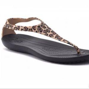 Crocs Sexi Wild Flip Leopard Flip-flop Sandals 7